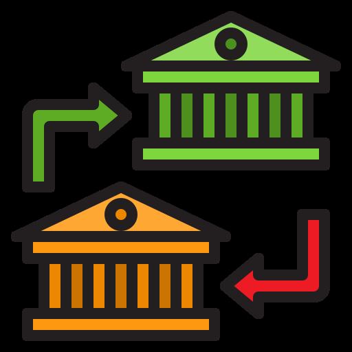 Icono transferencia bancaria